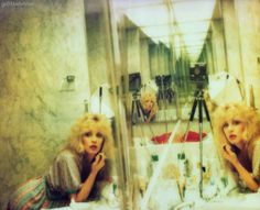 Stevie Nicks bathroom selfie, old school polaroid style  -Jessica H.