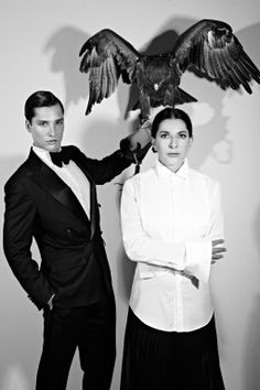 Marina Abramovic with an eagle. http://www.dazeddigital.com/artsandculture/article/16842/1/the-da-zed-guide-to-marina-abramovic