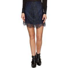 For Love and Lemons Women's Lyla Lace Mini Skirt - Size L ($59) ❤ liked on Polyvore featuring skirts, mini skirts, multi, mini skirt, lacy skirt, scalloped lace skirt, lace skirts and panel skirt