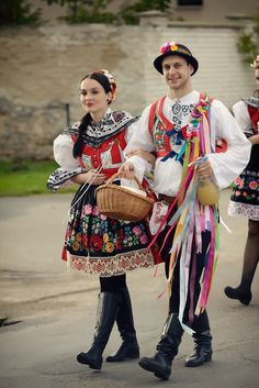 Moravian folk costume, Czech Republic:  Interested in other cultures? HOST A FOREIGN EXCHANGE STUDENT! Contact OCEAN for more information. Toll-Free: 1-888-996-2326; E-mail: info@ocean-intl.org; Web: www.ocean-intl.org