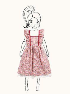 Schnittmuster Kinder - Kleid, Dirndl 138, burda style 07-2015