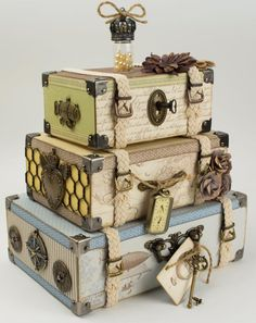 Stacked Luggage Trunks