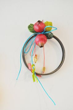 Pomegranate holiday wreath multi color by AkatosCollectibles, $21.50