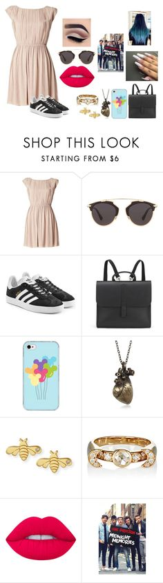 """Out with the boys"" by dm29049221 ❤ liked on Polyvore featuring Alice + Olivia, Christian Dior, adidas Originals, Danielle Foster, Samsung, Sydney Evan, Pamela Love and Lime Crime"
