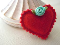 Handmade Heart Brooch