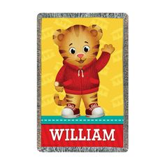 The Official PBS KIDS Shop | Daniel Tiger's Neighborhood Hi Neighbor Throw - Decor - Personalized Gifts