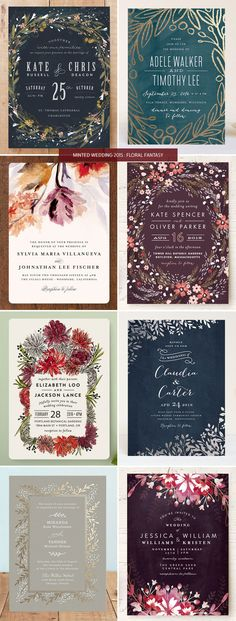 Minted Wedding Invitations 2015 : Floral Fantasy | At UPS Store #5447 in Macon, GA we do more than just shipping! We specialize in document services (banners, wedding funeral programs, flyers), mailbox services, notary services, freight, etc. Call (478) 781-6066 or visit www.theupsstorelocal.com/5447 for more info!