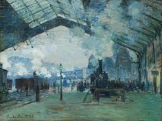 Arrival of the Normandy Train, Gare Saint-Lazare | The Art Institute of Chicago