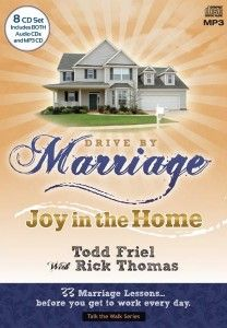Drive By Marriage Discussion Guide – You can purchase the 73 page PDF discussion guide to use as you listen to the Drive By Marriage CDs.  This guide was prepared by our friends at Answers in Genesis and is excellent for your personal growth, your marriage, or for any small group discussion.