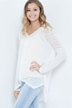 Lane Pullover in White | Women's Clothes, Casual Dresses, Fashion Earrings & Accessories | Emma Stine Limited