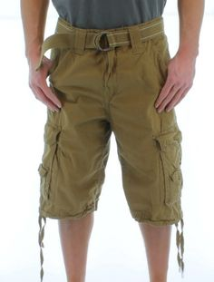 6ef3c7c4 MO7 Most Official Seven Men's Belted Heavy Wash Cargo Shorts $29.99 (save  $15.01) +
