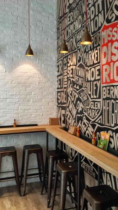 Mission Burrito, Cardiff Wall illustration is part of Restaurant decor - Pizzeria Design, Small Restaurant Design, Restaurant Interior Design, Small Cafe Design, Restaurant Furniture, Cafe Bar, Cafe Restaurant, Modern Restaurant, Burrito Restaurant
