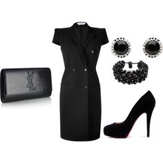 Classy Givenchy Dress and YSL Clutch-can we say $$$$ :)