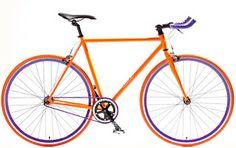 purple and orange fixie Beginner Road Bike, Bike Messenger, Baby Bike, Fixed Gear Bike, Speed Bike, Road Bikes, Orange And Purple, Cycling, Colours