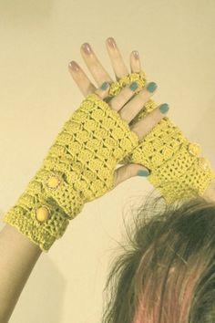 guantes crochet
