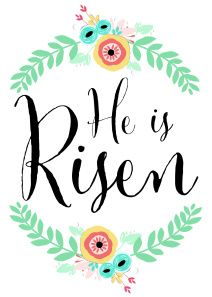 He is risen printable
