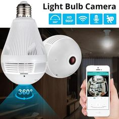 Panoramic Home Security LED Light Bulb Camera w/ 360 Degree Motion Sensing - Home security system -Wireless Panoramic Home Security LED Light Bulb Camera w/ 360 Degree Motion Sensing - Home security system - Home Security Devices, Home Security Tips, Wireless Home Security Systems, Security Cameras For Home, House Security, Security Products, Security Service, Hidden Cameras For Home, Security Tools