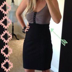 Grey And Black Sassy Dress