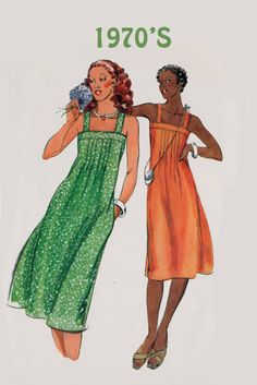 Vintage 1970s Fit & Flared Sundress Sewing Pattern Butterick 5355 70s Retro Pattern Sz 14 B 36 by sandritocat on Etsy
