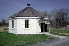 I think this was once located in Fishertown: 8 square school, Bedford Village, PA