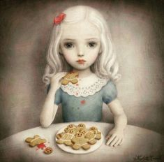 Arte Lowbrow, Mark Ryden, Arte Horror, Creepy Art, Art Graphique, Whimsical Art, Surreal Art, Cute Art, Alice In Wonderland