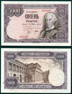 1976 Bank of Spain 5000 Pesetas Banknote PMG 64 Net Choice Uncirculated Pick
