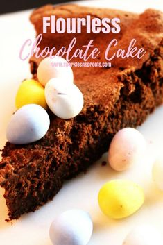 Flourless Chocolate Cake is a must have anytime of the year! . #flourless #chocolate #cake #dessert #decadent #sparklesnsprouts