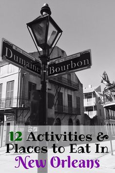 Things to do and places to eat in New Orleans. Best activities you can't miss in New Orleans, Louisiana.