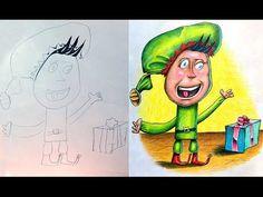 Çocuklarının Çizdiği Resimleri Renklendiren Yaratıcı Babadan 20 Çalışma