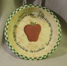 Apple Kitchen Decor Catalogs   Hand Painted Apple Pie Plate-Hand Painted Apple Decor, Kitchen Decor ...