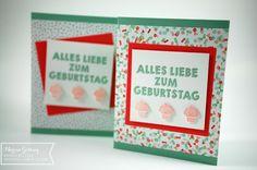 Stampin' Up, Partygrüsse, Geburtstagskarte