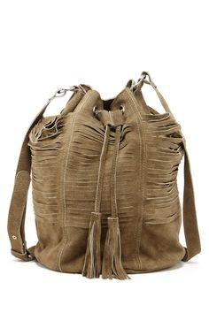 Multi-Strap Suede Drawstring Bag by RAJ on @HauteLook