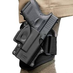 Fobus GLOCK 26, 27, 33 Ankle Holster Right Hand Kydex Black