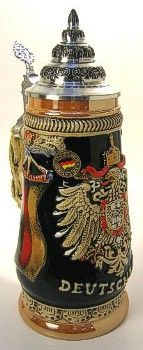 German Beer Steins - my pops had so many of these until someone broke in and stole them.  :(