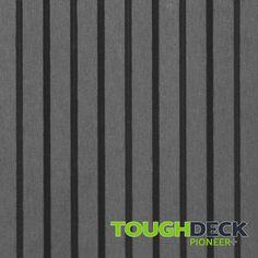 Stone Grey Wood Grain WPC Decking Board - Pioneer+ Wpc Decking, Composite Decking, Grey Wood, Grey Stone, Pioneer Decks, Wood Grain Texture, One Sided, Surface, Board