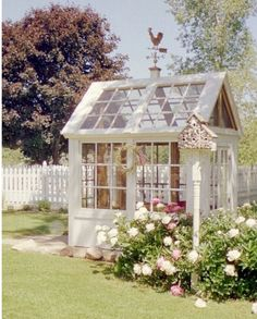 Small Greenhouse made from reclaimed windows.