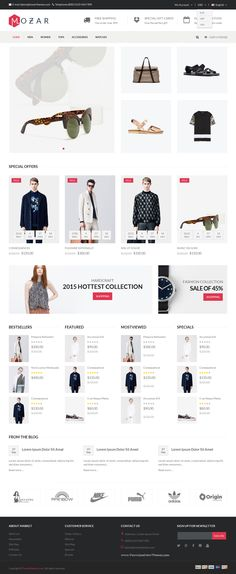 There are 4 home page layouts which are integrated many simple opencart extensions and bring the elegance and graciousness. Horizontal Megamenu make customers can access everywhere in the store. Large slideshow with beautiful images, nice font, eye-catching effects is a highlight of Mozar Responsive #Opencart #theme.