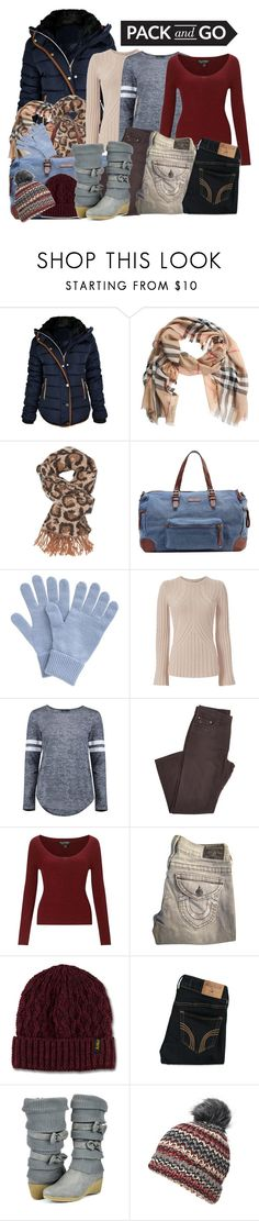 """Pack n Go Winter"" by stephaniefb ❤ liked on Polyvore featuring Burberry, Charlotte Russe, Liebeskind, John Lewis, Autumn Cashmere, Boohoo, Miss Selfridge, True Religion, Dr. Martens and Hollister Co."