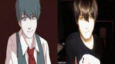 Photo: Ah oui il l'imite bien quand même '-' avec la même coup de cheveux