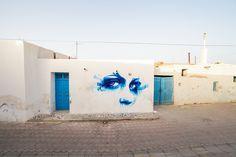 Dan23 (France) #streetart #erriadh #djerba #tunisia #watercolor #spray
