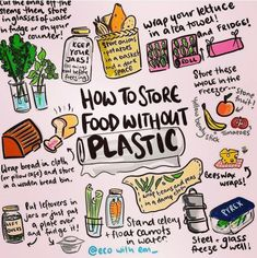 Low waste living Easy hacks to store your food plastic free and give your produce longer life. Live zero waste for low impact on our environment Reduce Reuse Recycle, How To Recycle, Plastic Waste, Plastic Recycling, Plastic Wrap, Plastic Bags, Plastic Film, Sustainable Living, Home Organization