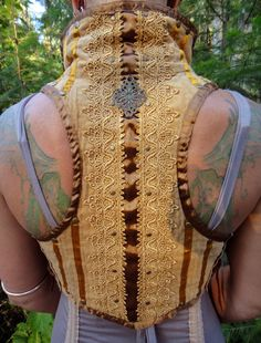 Kelsey is a long time Burner and she designed this vest for the ladies at Burning Man. Rock her style! ShopFestivalFire.com #burningmanladies #festivalwear #ladiesburlesquevest