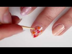 3 EASY Valentine's Day Nail Art Designs Using a toothpick - YouTube
