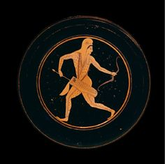Red-figured plate, signed by Epiktetos as painter -520/-510 BC British Museum