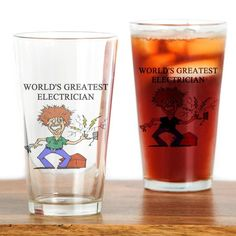 CafePress - electrician gifts t-shirts Pint Glass - Pint Glass, 16 oz. Drinking Glass * Visit the image link more details.