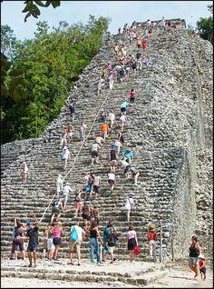 The Nohoch Mul (big mound), Coba, Mexico