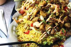 New York Food Cart Style Halal Chicken and Rice | AllFreeCopycatRecipes.com