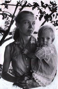 A striking portrait of Elisabeth Elliot and her daughter Valerie not long after Jim Elliot's death.