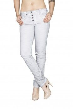 BLUE MONKEY Damen Slim Fit Jeans Lynn BM-15 Ice Blue
