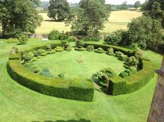 Cotswolds. Topiary at Chastleton House